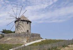 Windmolen, Limnos-Eiland, Griekenland Stock Afbeelding