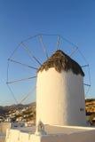 Windmolen in Mykonos - Griekenland Royalty-vrije Stock Foto