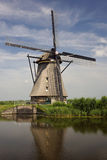 Windmolen in Nederland stock afbeelding