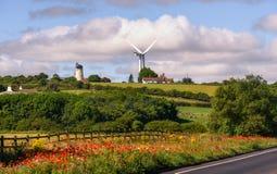Windmolen Noordoostelijk Engeland het UK Royalty-vrije Stock Afbeelding