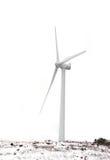 Windmolen op een witte achtergrond Stock Fotografie