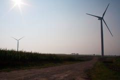 Windmolen op gebied Stock Fotografie