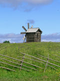 Windmolen op Kizhi-eiland Stock Fotografie