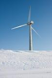 Windmolen in sneeuw Nederlands landschap Royalty-vrije Stock Fotografie