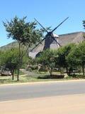 Windmolen in struik Stock Afbeeldingen