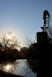 Windmolen Sunflare Royalty-vrije Stock Afbeelding