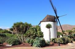 Windmolen van Antigua (Molino DE Antigua). Fuerteventura, Canarische Eilanden, Spanje. Stock Afbeeldingen