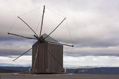 Windmolen van de guarda-zonsondergang van Santiago DA Royalty-vrije Stock Afbeelding