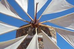 Windmolen van Kreta Stock Foto's