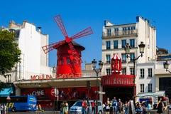 Windmolen van Moulin-Rouge Parijs Royalty-vrije Stock Afbeelding
