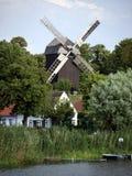 Windmolen in werder-Havel Royalty-vrije Stock Afbeeldingen