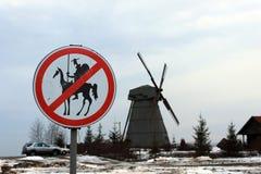 Windmolen in Wit-Rusland Royalty-vrije Stock Afbeelding