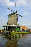 Windmolen in Zaanse Schans stock fotografie