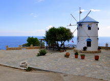 Windmolen in Zakynthos Stock Foto