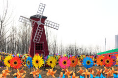 Windmolenfestival stock foto's