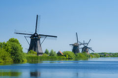 Windmolens 3 van Kinderdijk Royalty-vrije Stock Fotografie