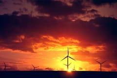 windmolens Alternatieve Energie Stock Afbeeldingen