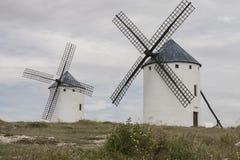 Windmolens in Castilla La Mancha Stock Foto's