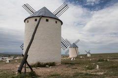 Windmolens in Castilla La Mancha Stock Foto