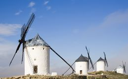 Windmolens in Consuegra Royalty-vrije Stock Fotografie