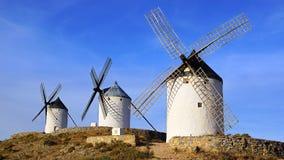 Windmolens in Consuegra Royalty-vrije Stock Afbeeldingen