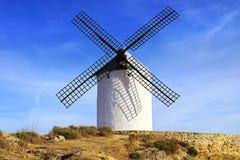 Windmolens in Consuegra Stock Afbeeldingen