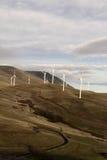 Windmolens, de Macht die van de Wind electicity produceren Stock Afbeeldingen