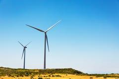 Windmolens in de vallei Royalty-vrije Stock Foto