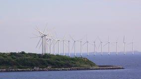 Windmolens in Denemarken stock footage