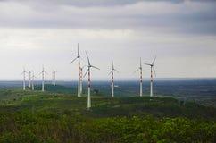 Windmolens, dichtbij Chand Bibi Mahal, Ahmednagar, Maharashtra royalty-vrije stock fotografie