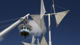Windmolens en BIGO bij de oude haven stock footage