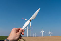 Windmolens en propeller Royalty-vrije Stock Fotografie