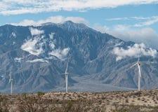 Windmolens en San Jacinto Peak Stock Fotografie