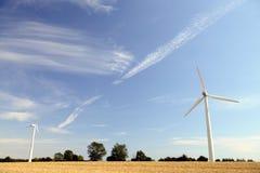 Windmolens en wolken Royalty-vrije Stock Foto