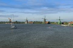Windmolens in Holland Royalty-vrije Stock Foto's