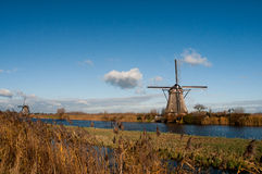 Windmolens in Kinderdijk Stock Foto