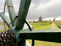 Windmolens in Kinderdijk Holland Royalty-vrije Stock Foto