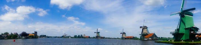 Windmolens in Kinderdijk, Netherland royalty-vrije stock fotografie
