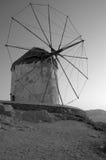 Windmolens in Mykonos, Griekenland Stock Foto