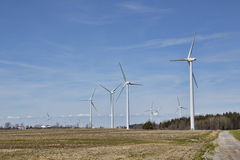 Windmolens op de heuvels Stock Fotografie