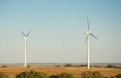 Windmolens op een plattelandsgebied Royalty-vrije Stock Foto