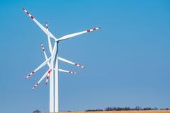 Windmolens op het gebied Royalty-vrije Stock Foto's