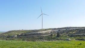 Windmolens op het gebied stock video