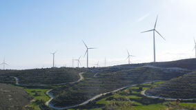 Windmolens op het gebied stock footage