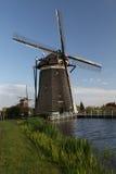 Windmolens op Nederlands platteland Royalty-vrije Stock Foto