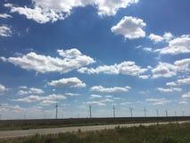 Windmolens in Texas Stock Foto's