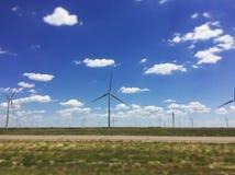 Windmolens in Texas Stock Afbeelding