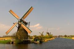 Windmolens van Kinderdijk Royalty-vrije Stock Foto's