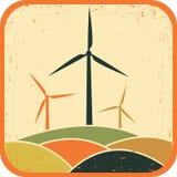 windmolens Vector illustratie royalty-vrije illustratie