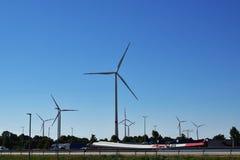 Windmolens voor Electric Power-Productie royalty-vrije stock foto